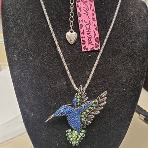Betsey Johnson Hummingbird Necklace